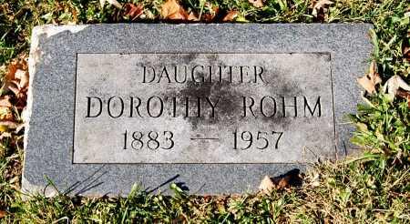 ROHM, DOROTHY - Juniata County, Pennsylvania | DOROTHY ROHM - Pennsylvania Gravestone Photos