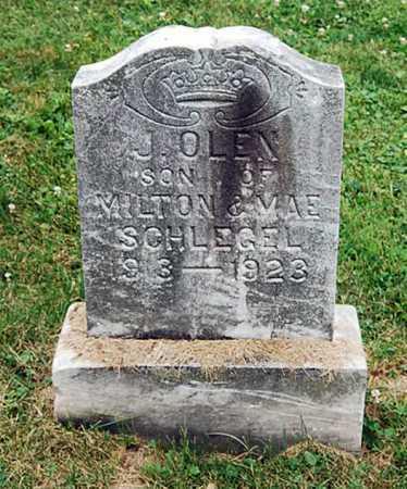 SCHLEGEL, J. OLEN - Juniata County, Pennsylvania | J. OLEN SCHLEGEL - Pennsylvania Gravestone Photos
