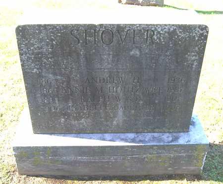 SHOVER, ISABELLE - Juniata County, Pennsylvania | ISABELLE SHOVER - Pennsylvania Gravestone Photos