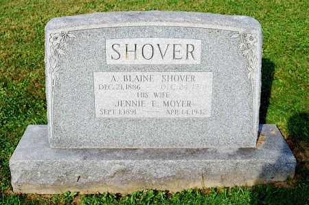 SHOVER, JENNIE E. - Juniata County, Pennsylvania   JENNIE E. SHOVER - Pennsylvania Gravestone Photos