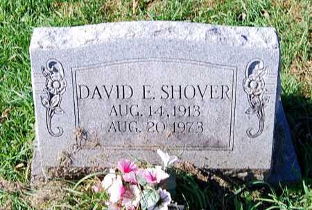 SHOVER, DAVID E. - Juniata County, Pennsylvania   DAVID E. SHOVER - Pennsylvania Gravestone Photos