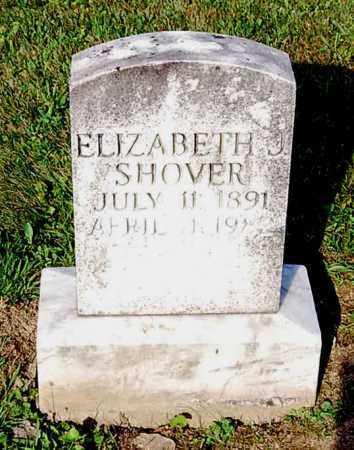 SHOVER, ELIZABETH J. - Juniata County, Pennsylvania | ELIZABETH J. SHOVER - Pennsylvania Gravestone Photos