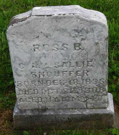 SNOUFFER, ROSS B. - Juniata County, Pennsylvania   ROSS B. SNOUFFER - Pennsylvania Gravestone Photos