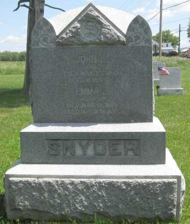 SNYDER, JOHN L. - Juniata County, Pennsylvania | JOHN L. SNYDER - Pennsylvania Gravestone Photos