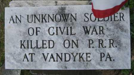 SOLDIER, (UNKNOWN) - Juniata County, Pennsylvania | (UNKNOWN) SOLDIER - Pennsylvania Gravestone Photos