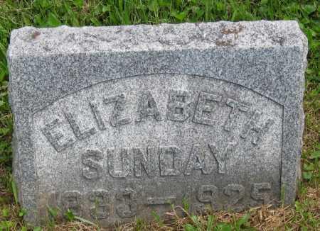 SUNDAY, ELIZABETH - Juniata County, Pennsylvania   ELIZABETH SUNDAY - Pennsylvania Gravestone Photos