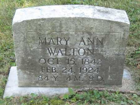 WALTON, MARY ANN - Juniata County, Pennsylvania | MARY ANN WALTON - Pennsylvania Gravestone Photos