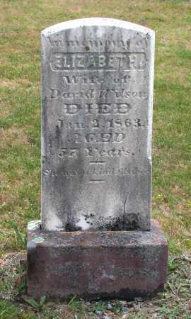 WILSON, ELIZABETH - Juniata County, Pennsylvania | ELIZABETH WILSON - Pennsylvania Gravestone Photos