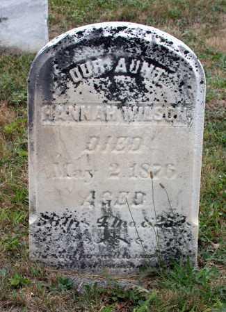 WILSON, HANNAH - Juniata County, Pennsylvania | HANNAH WILSON - Pennsylvania Gravestone Photos