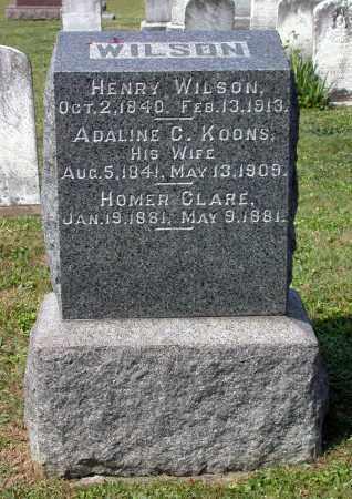 WILSON, HOMER CLARE - Juniata County, Pennsylvania | HOMER CLARE WILSON - Pennsylvania Gravestone Photos