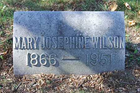 WILSON, MARY JOSEPHINE - Juniata County, Pennsylvania   MARY JOSEPHINE WILSON - Pennsylvania Gravestone Photos