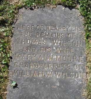 MOORE WILSON, MARY ANN - Juniata County, Pennsylvania   MARY ANN MOORE WILSON - Pennsylvania Gravestone Photos