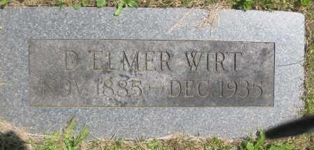 WIRT, D. ELMER - Juniata County, Pennsylvania | D. ELMER WIRT - Pennsylvania Gravestone Photos