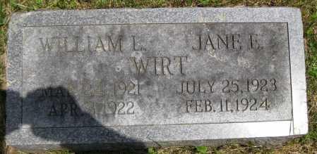 WIRT, WILLIAM LEE - Juniata County, Pennsylvania   WILLIAM LEE WIRT - Pennsylvania Gravestone Photos