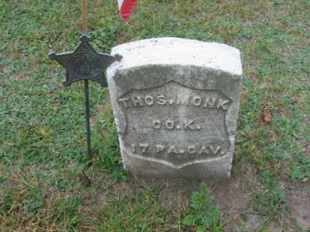 MONK (CW), THOMAS - Lackawanna County, Pennsylvania | THOMAS MONK (CW) - Pennsylvania Gravestone Photos