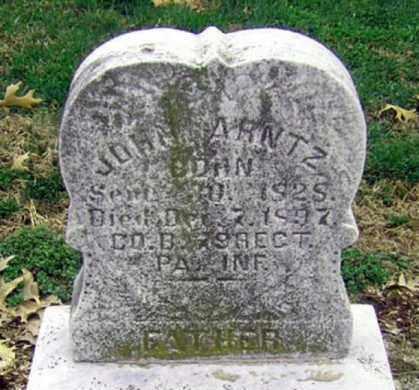 ARNTZ (CW), JOHN - Lancaster County, Pennsylvania   JOHN ARNTZ (CW) - Pennsylvania Gravestone Photos