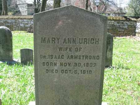 URICH ARMSTRONG, MARY ANN - Lancaster County, Pennsylvania | MARY ANN URICH ARMSTRONG - Pennsylvania Gravestone Photos