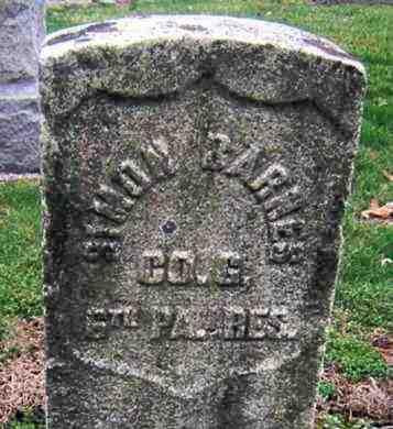 BARNES (CW), SIMON - Lancaster County, Pennsylvania   SIMON BARNES (CW) - Pennsylvania Gravestone Photos