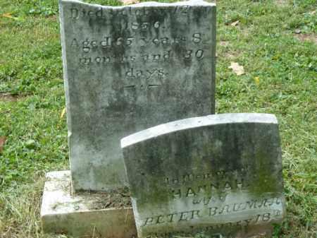 BAUMAN, HANNAH - Lancaster County, Pennsylvania   HANNAH BAUMAN - Pennsylvania Gravestone Photos