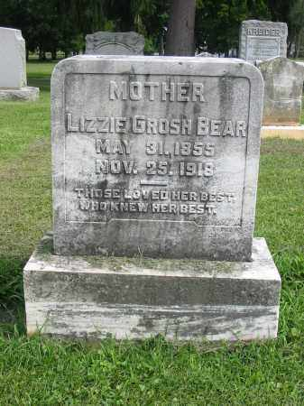 BEAR, LIZZIE - Lancaster County, Pennsylvania | LIZZIE BEAR - Pennsylvania Gravestone Photos