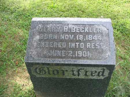 BECKLER, HENRY B - Lancaster County, Pennsylvania   HENRY B BECKLER - Pennsylvania Gravestone Photos