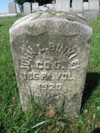 BINKLEY (CW), JOHN L. - Lancaster County, Pennsylvania | JOHN L. BINKLEY (CW) - Pennsylvania Gravestone Photos