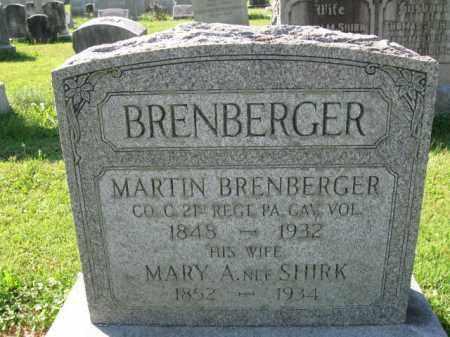 BRENBERGER (CW), MARTIN - Lancaster County, Pennsylvania   MARTIN BRENBERGER (CW) - Pennsylvania Gravestone Photos