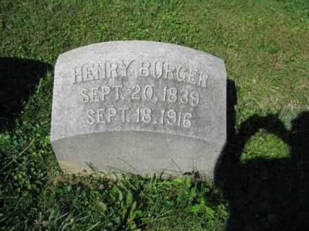BURGER, HENRY - Lancaster County, Pennsylvania | HENRY BURGER - Pennsylvania Gravestone Photos