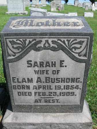 BUSHONG, SARAH E. - Lancaster County, Pennsylvania | SARAH E. BUSHONG - Pennsylvania Gravestone Photos