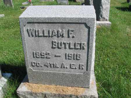 BUTLER (WW I), WILLIAM F. - Lancaster County, Pennsylvania | WILLIAM F. BUTLER (WW I) - Pennsylvania Gravestone Photos