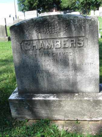 CHAMBERS (CW), B. FRANKLIN - Lancaster County, Pennsylvania | B. FRANKLIN CHAMBERS (CW) - Pennsylvania Gravestone Photos