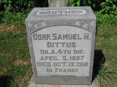 DITTUS (WW I), SAMUEL H. - Lancaster County, Pennsylvania | SAMUEL H. DITTUS (WW I) - Pennsylvania Gravestone Photos