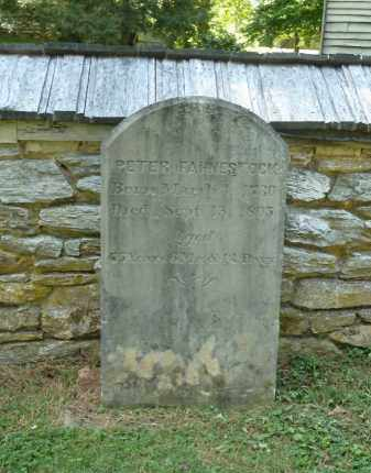FAHNESTOCK, PETER - Lancaster County, Pennsylvania | PETER FAHNESTOCK - Pennsylvania Gravestone Photos