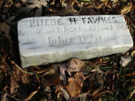 FAWKES, PHEBE H - Lancaster County, Pennsylvania | PHEBE H FAWKES - Pennsylvania Gravestone Photos