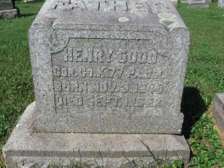 GOOD (CW), HENRY - Lancaster County, Pennsylvania | HENRY GOOD (CW) - Pennsylvania Gravestone Photos