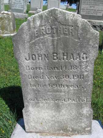 HAAG (CW), JOHN B. - Lancaster County, Pennsylvania | JOHN B. HAAG (CW) - Pennsylvania Gravestone Photos