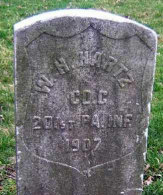 HARTZ (CW), WILLIAM H. - Lancaster County, Pennsylvania | WILLIAM H. HARTZ (CW) - Pennsylvania Gravestone Photos