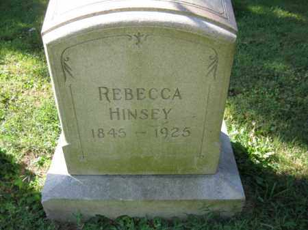 HINSEY, REBECCA - Lancaster County, Pennsylvania | REBECCA HINSEY - Pennsylvania Gravestone Photos