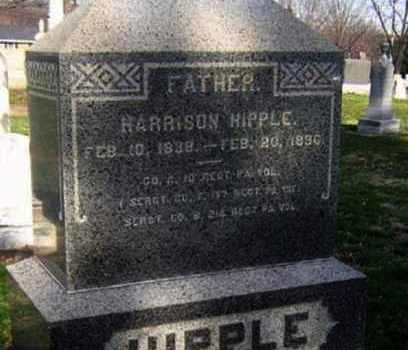 HIPPLE (CW), HARRISON (HENRY) - Lancaster County, Pennsylvania | HARRISON (HENRY) HIPPLE (CW) - Pennsylvania Gravestone Photos