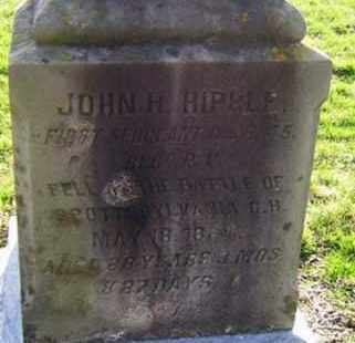 HIPPLE (CW), JOHN H. - Lancaster County, Pennsylvania | JOHN H. HIPPLE (CW) - Pennsylvania Gravestone Photos