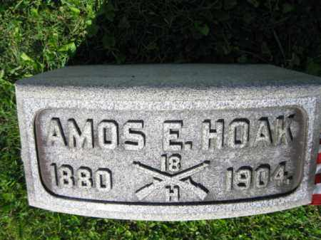 HOAK (SAW), AMOS E. - Lancaster County, Pennsylvania | AMOS E. HOAK (SAW) - Pennsylvania Gravestone Photos