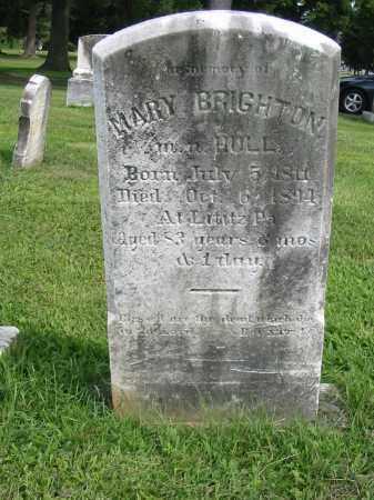 BRIGHTON HULL, MARY - Lancaster County, Pennsylvania | MARY BRIGHTON HULL - Pennsylvania Gravestone Photos