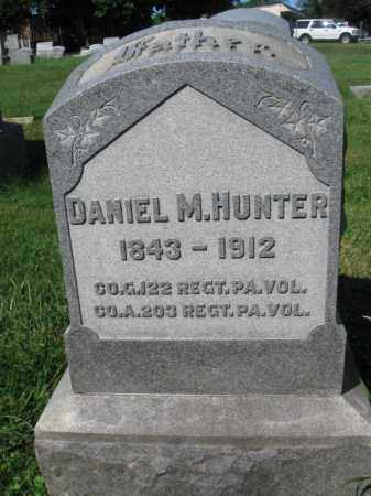 HUNTER (CW), DANIEL M. - Lancaster County, Pennsylvania | DANIEL M. HUNTER (CW) - Pennsylvania Gravestone Photos