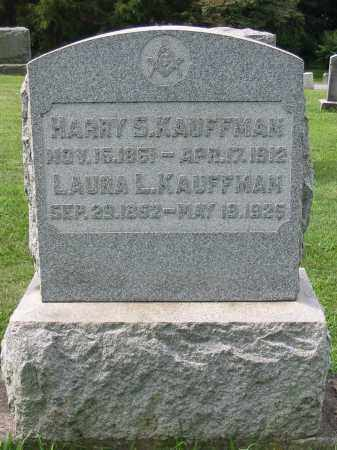 KAUFFMAN, LAURA LOUISA - Lancaster County, Pennsylvania | LAURA LOUISA KAUFFMAN - Pennsylvania Gravestone Photos