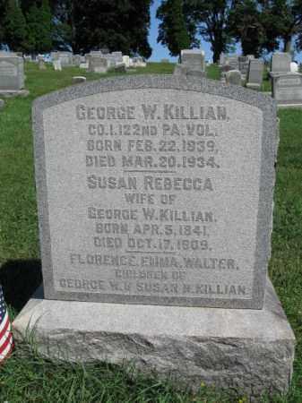 KILLIAN (CW), GEORGE W. - Lancaster County, Pennsylvania | GEORGE W. KILLIAN (CW) - Pennsylvania Gravestone Photos