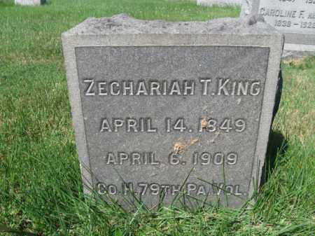 KING (CW), ZECHARIAH T. - Lancaster County, Pennsylvania | ZECHARIAH T. KING (CW) - Pennsylvania Gravestone Photos