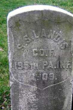 LANDIS (CW), SAMUEL S. - Lancaster County, Pennsylvania | SAMUEL S. LANDIS (CW) - Pennsylvania Gravestone Photos