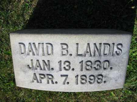 LANDIS, DAVID B. - Lancaster County, Pennsylvania | DAVID B. LANDIS - Pennsylvania Gravestone Photos