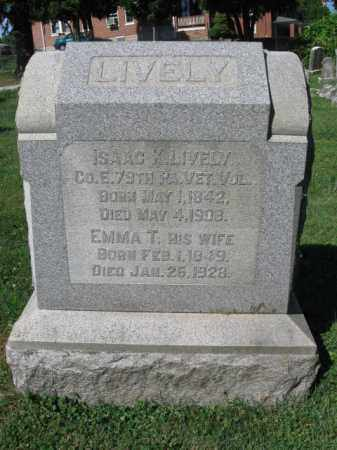LIVELY (CW), ISAAC K. - Lancaster County, Pennsylvania   ISAAC K. LIVELY (CW) - Pennsylvania Gravestone Photos