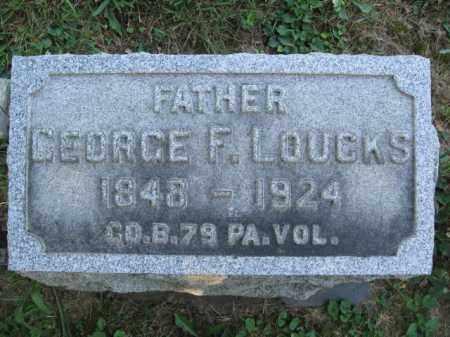 LOUCKS (CW), GEORGE F. - Lancaster County, Pennsylvania | GEORGE F. LOUCKS (CW) - Pennsylvania Gravestone Photos